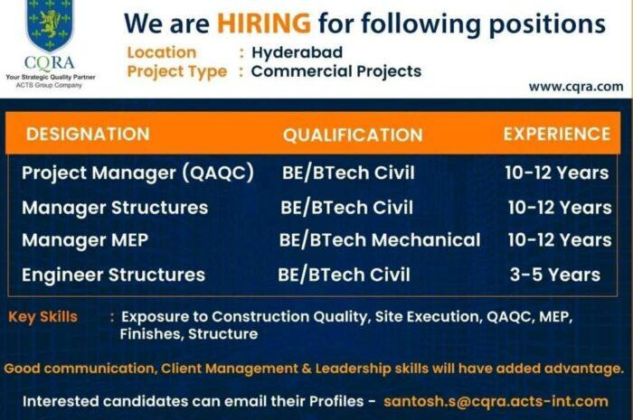 Job Openings in CQRA