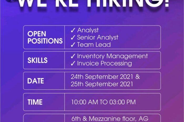 Job Openings @ Sakon